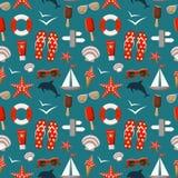 Summer seamless sea patterns. Vector Stock Photos