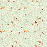 Summer seamless texture, floral pattern with bees ans butterflies Stock Images