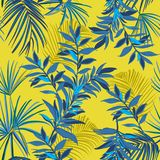Summer Seamless tropical pattern. Leaves palm tree illustration. Royalty Free Stock Image