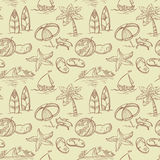Summer seamless. Vintage sketchy summer seamless pattern Royalty Free Stock Photography