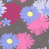 Summer seamless wallpaper. Universal template for greeting card, web page, background Stock Image
