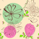 Summer seamless wallpaper Royalty Free Stock Photography