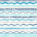 Summer seamless wavy pattern. Ethnic and tribal motifs. Striped Stock Photos