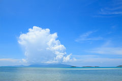 Summer seascape with blue sky background Stock Photography
