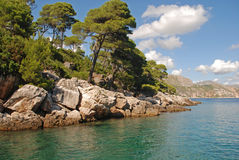 Summer seascape,Croatia Royalty Free Stock Image