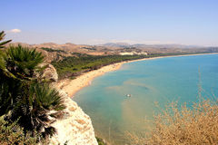 Summer seascape, Island of Sicily Royalty Free Stock Images