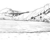 Summer seascape sketch Stock Photo