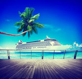 Summer Seascape Skylline Cruise Sea Route Destination Concept Royalty Free Stock Photo