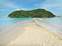 Summer seascape on tropical island Koh Phangan in Thailand. Mae Royalty Free Stock Images