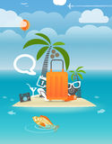 Summer seaside vacation Royalty Free Stock Photography