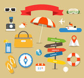 Summer seaside vacation illustration Royalty Free Stock Photography