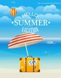 Summer seaside vacation illustration Royalty Free Stock Photography