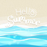 Summer seaside vacation illustration Royalty Free Stock Image