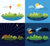 Summer seaside vacation illustration Stock Images