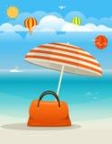 Summer seaside vacation illustration Royalty Free Stock Photo