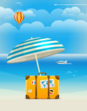 Summer seaside vacation illustration Stock Photos