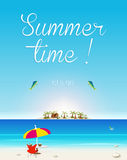 Summer Seaside View Poster Stock Photos