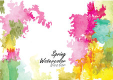 Summer season abstract background ,vector watercolor brush design Royalty Free Stock Photography