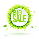 Summer season big sale label Royalty Free Stock Images