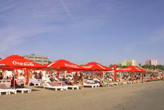 Summer season at the Black Sea, at Mamaia Beach Stock Photography
