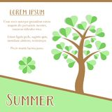 Summer season card Royalty Free Stock Image