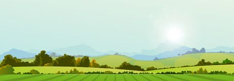 Summer Season Country Banner royalty free illustration