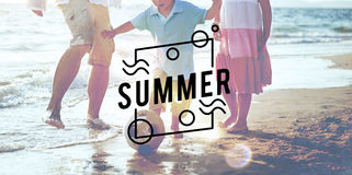 Summer Season Hot Heat Outdoors Graphic Concept Stock Images
