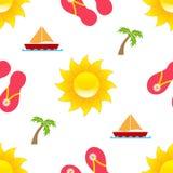 Summer Season Seamless Pattern vector illustration