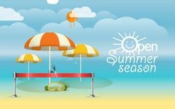 Summer season vacation illustration Stock Images