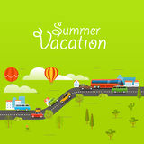 Summer season vector concept Royalty Free Stock Images