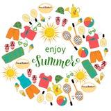 ENJOY SUMMER vector illustration