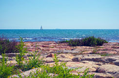 Summer seaview at Costa del Sol, Spain Royalty Free Stock Image