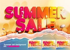 Summer set background Vector vector illustration