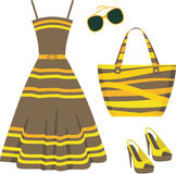 Summer set of clothes Royalty Free Stock Photo
