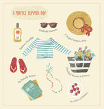 Summer set of clothes and accessories Royalty Free Stock Images