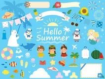 Summer set vector illustration