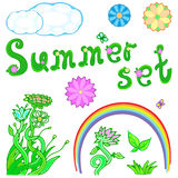 Summer set for design. Vector illustration of a summer set for design Royalty Free Stock Photo