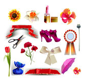 Summer set for her, Lady's icons Stock Image