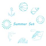 The summer set Royalty Free Stock Photography