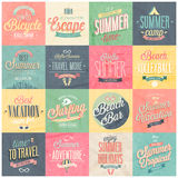 Summer set - labels and emblems. Royalty Free Stock Photography