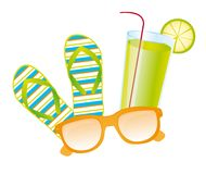 Summer set vector Royalty Free Stock Photos