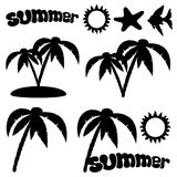 Summer set. Stock Images