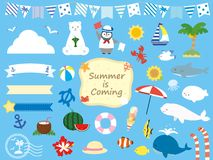 Free Summer Set8 Royalty Free Stock Photo - 147177685
