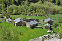 Summer settlement in the mountain valley, Andorra Royalty Free Stock Photo