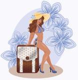 Summer sexual travel girl Royalty Free Stock Photos