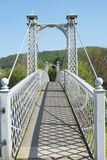 Summer shadows on pedestrian bridge at Peebles Stock Photography