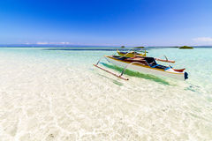 Summer shallow water. Shallow water in virgin island, Panglao  - Bohol, Philippines Stock Image