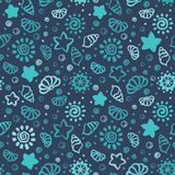 Summer shell pattern Stock Image