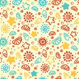 Summer shell pattern Royalty Free Stock Photography