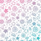 Summer shell pattern vector illustration